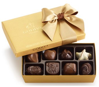 Godiva Gold Ballotin, 8 pc. in Norristown PA, Plaza Flowers