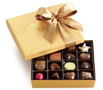 Godiva Gold Ballotin, 19 pc. in Norristown PA, Plaza Flowers