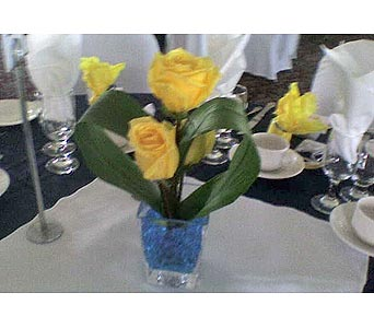 Orchardview Wedding  Yellow and BluePlease call for more info 888-279-7845 in Manotick ON, Manotick Florists