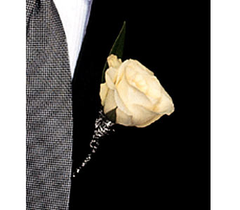 Metallic Rose Boutonniere in Coplay PA, The Garden of Eden