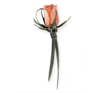 Looped Rose Boutonniere in Coplay PA, The Garden of Eden
