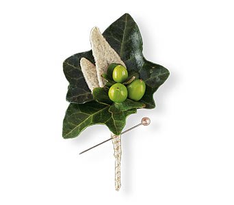 Mixed Foliage Boutonniere in Coplay PA, The Garden of Eden