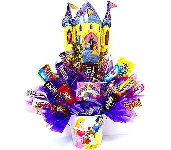 CB267 ''Cinderella's Castle'' Candy Bouquet in Oklahoma City OK, Array of Flowers & Gifts