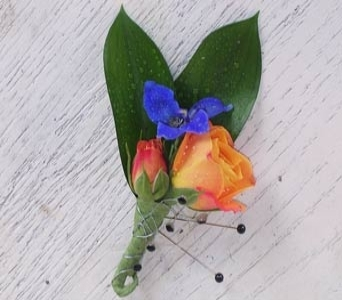 ORANGEANDBLU Boutonniere in Raleigh NC, North Raleigh Florist