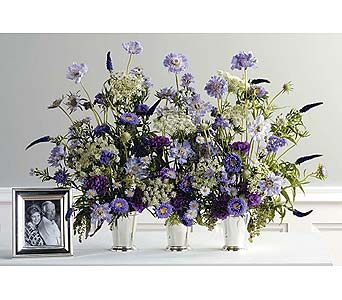 Wildflowers in Silver Urns in West Bloomfield MI, Happiness is...Flowers & Gifts