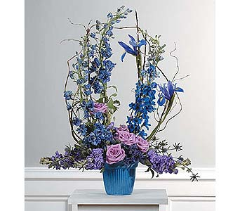 Lavender and Blue Mache Arrangement in West Bloomfield MI, Happiness is...Flowers & Gifts