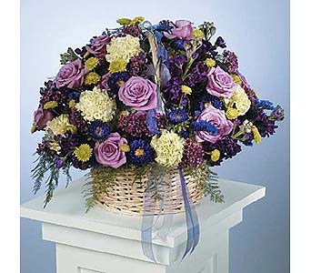 Mixed Basket Arrangement in West Bloomfield MI, Happiness is...Flowers & Gifts