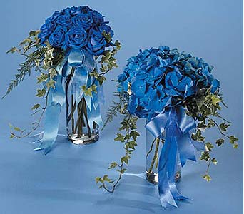 Blue Rose Vase Bouquet in West Bloomfield MI, Happiness is...Flowers & Gifts