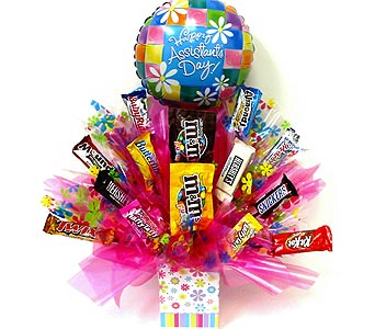 SECCB151 ''Happy Assistants Day'' Candy Bouquet in Oklahoma City OK, Array of Flowers & Gifts