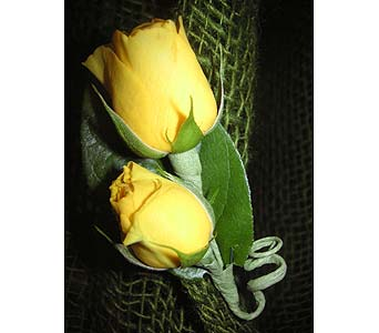 Yellow rose Boutonniere in West Los Angeles CA, Westwood Flower Garden