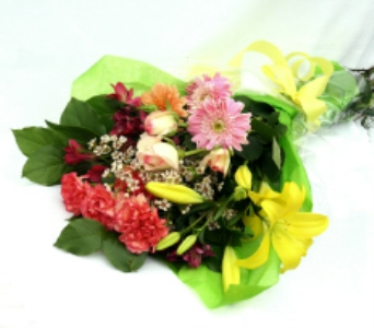 Chris'' Pick: Bright Wrapped Bouquet in North Adams MA, Mount Williams Greenhouses, Inc.
