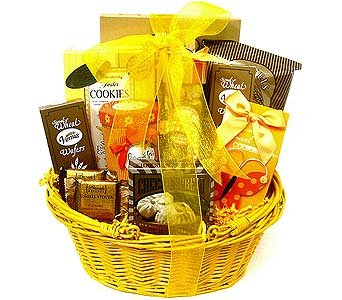 GF148 ''Snack Break'' Gourmet Basket in Oklahoma City OK, Array of Flowers & Gifts