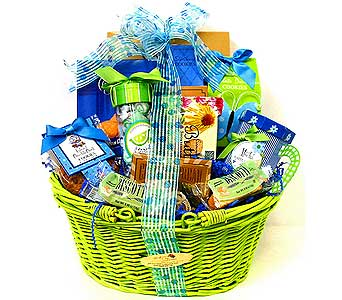 GF144 ''Gourmet Glee'' Gift Basket in Oklahoma City OK, Array of Flowers & Gifts
