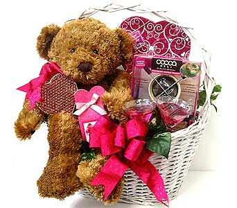 GB294 ''Sweet Fondue'' Gift Basket in Oklahoma City OK, Array of Flowers & Gifts