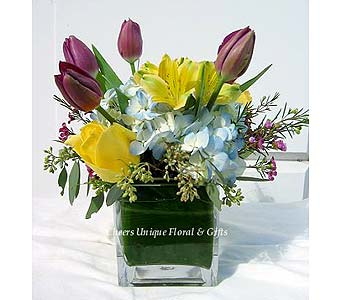 Tulips & Hydrangea in Lake Forest CA, Cheers Floral Creations