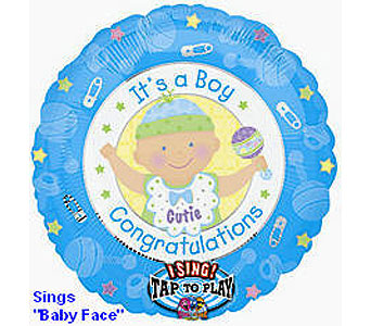 BB316 It's A Boy 36'' Singing Balloon in Oklahoma City OK, Array of Flowers & Gifts