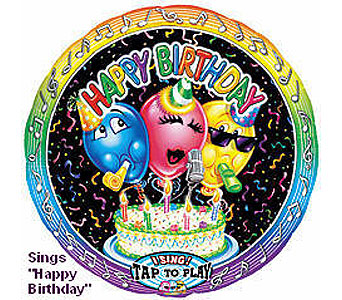 BB318 Happy Birthday 36'' Singing Balloon in Oklahoma City OK, Array of Flowers & Gifts
