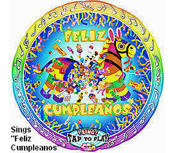 BB320 Feliz Cumpleanos 36'' Singing Balloon in Oklahoma City OK, Array of Flowers & Gifts