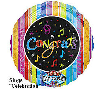 BB321 Congratulations 36'' Singing Balloon in Oklahoma City OK, Array of Flowers & Gifts