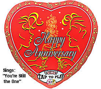BB323 Happy Anniversary 36'' Singing Balloon in Oklahoma City OK, Array of Flowers & Gifts