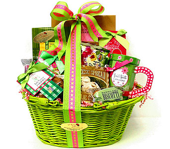GF143 ''Sweet Escape'' Gourmet Food Basket in Oklahoma City OK, Array of Flowers & Gifts