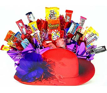 CB272 ''Red Hat Sweety'' Candy Bouquet in Oklahoma City OK, Array of Flowers & Gifts