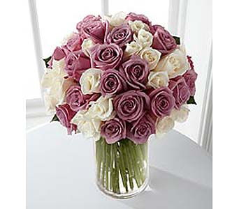 Purple & White Roses in Bellevue WA, CITY FLOWERS, INC.