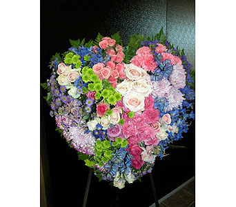 Bright Heart Spray in Fairfield CT, Hansen's Flower Shop and Greenhouse
