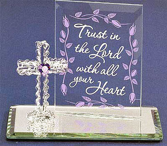 Trust in the Lord Cross in Lake Forest CA, Cheers Floral Creations