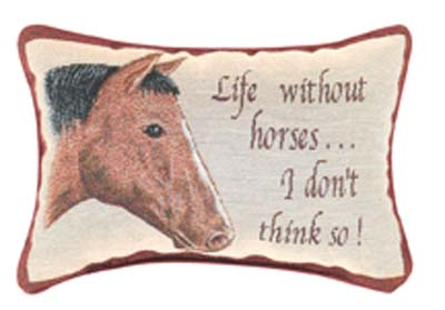 Life Without Horses Pillow in Niles OH, Connelly's Flowers