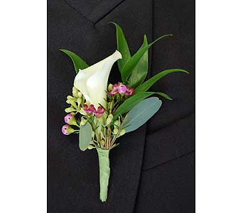 Calla Lily Boutonniere in Towson MD, Radebaugh Florist and Greenhouses