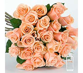 PEACH ROSES in Bellevue WA, CITY FLOWERS, INC.