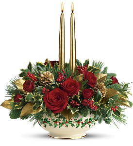 Lenox Holly-Day Bouquet by Teleflora in Warren MI, J.J.'s Florist - Warren Florist