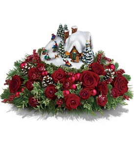 Thomas Kinkade's Sleigh Ride Bouquet by Teleflora in Oklahoma City OK, Array of Flowers & Gifts