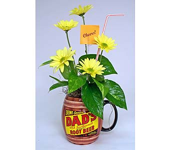 Dad's Root Beer Planter in Indianapolis IN, Gillespie Florists