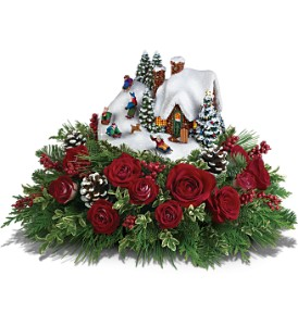 Thomas Kinkade's Sleigh Ride Bouquet by Teleflora in Broken Arrow OK, Arrow flowers & Gifts