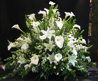 Mixed White Funeral Basket in Washington DC, Greenworks By Shane