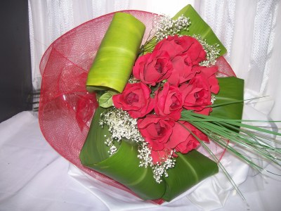Dozen Red Roses Wrapped in Fairfax VA, Exotica Florist, Inc.