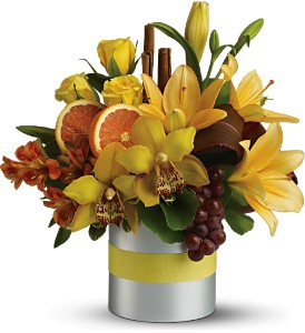 Teleflora's Top Chef Citrus in Canisteo NY, B K's Boutique Florist