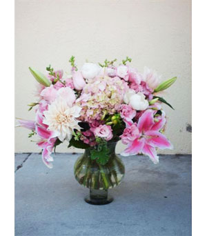 Soft Pinks in Santa Monica CA, Ann's Flowers