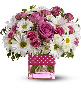 Teleflora's Polka Dots and Posies - Deluxe in Coplay PA, The Garden of Eden
