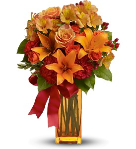 Teleflora's Orange Crush in Fairfield CT, Glen Terrace Flowers and Gifts