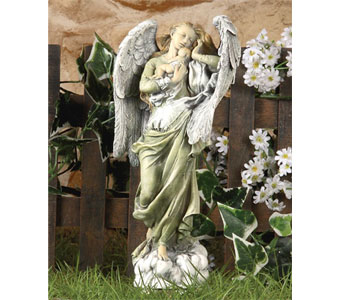 Standing Angel with Baby Figure in Royal Oak MI, Affordable Flowers