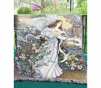 ANGEL OF LOVE AFGHAN(Local Delivery Only) in Circleville OH, Wagner's Flowers