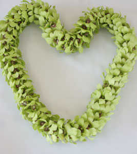 Green Double Lei in Redlands CA, Hockridge Florist