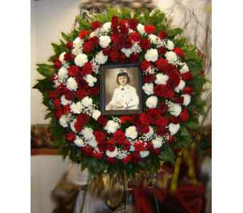 Remembrance wreath in Hialeah FL, Bella-Flor-Flowers
