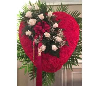 Standing Heart with Break in Staten Island NY, Kitty's and Family Florist Inc.