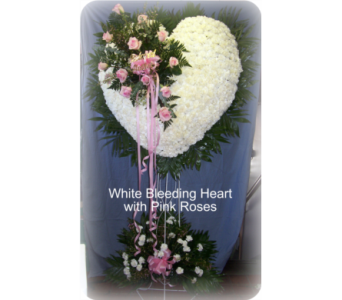 Bleeding Heart with Rose Break in Staten Island NY, Kitty's and Family Florist Inc.