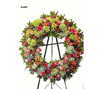 Sweet Goodbyes Wreath in Fairfield CT, Hansen's Flower Shop and Greenhouse