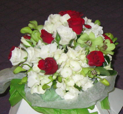 Orichid and Rose Clutch in Waukegan IL, Larsen Florist